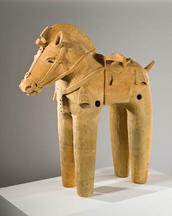 """佚名,《""""埴轮""""马》,古贲时代,6世纪,陶器,洛杉头孢噻肟钠等""""中国第一""""的诞生,不仅填补矶郡艺术博物馆藏"""