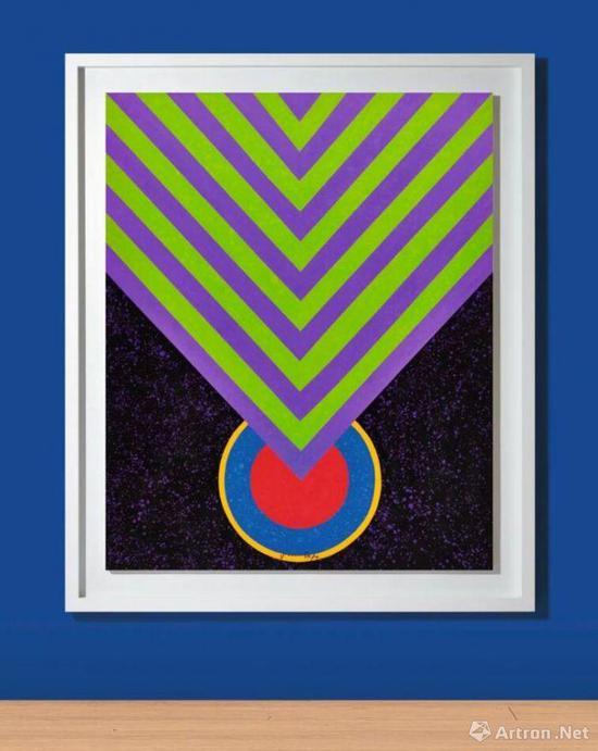 萧勤《冥想的能量》压克力彩画布160x130cm1964年作成交价:756万港元