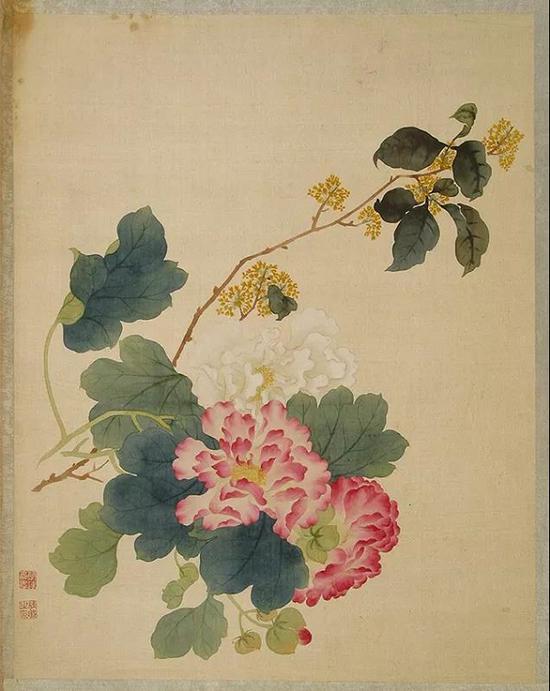 清 唐桂凝 《 花卉册》