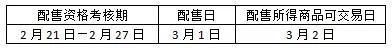 (考核期6个交易日)