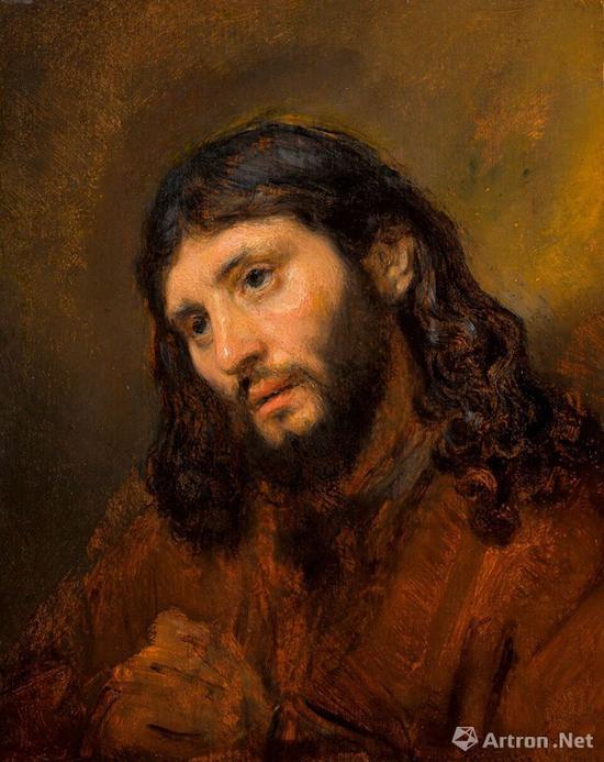 伦勃朗《双手交叉的年轻男子头像习作,祈祷中的基督》 成交价:948万英镑