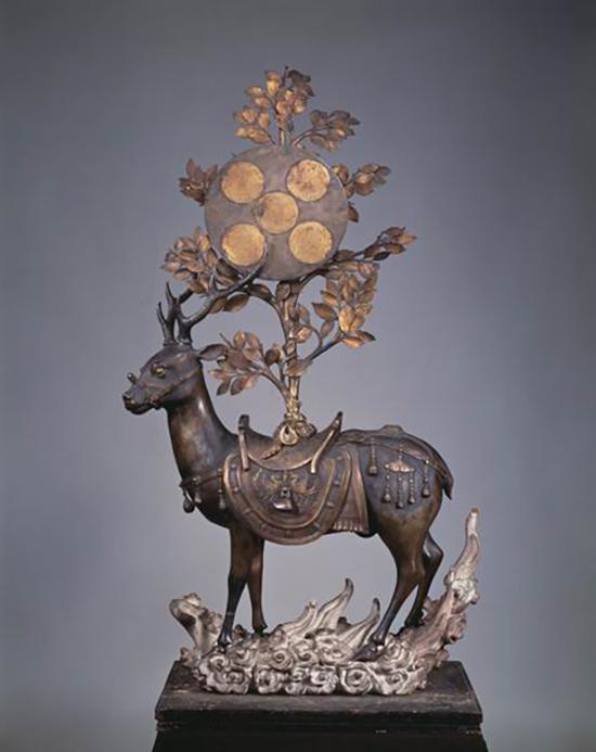 佚名,《春日大社-鹿》,14世纪(日本南北朝�I时代),京都细⌒