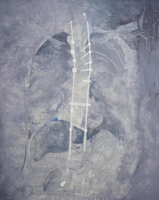 汪琦琦 隐藏标记I 80x100cm 布面丙烯 2018