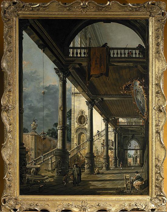 卡纳莱托(意大利) 随想:威尼斯大拱廊 128×93.5cm 布面油画 约1765年
