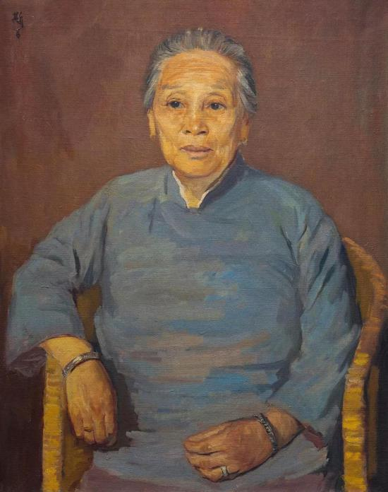 吕斯百  母亲像 布面油彩 81x65cm 1948年
