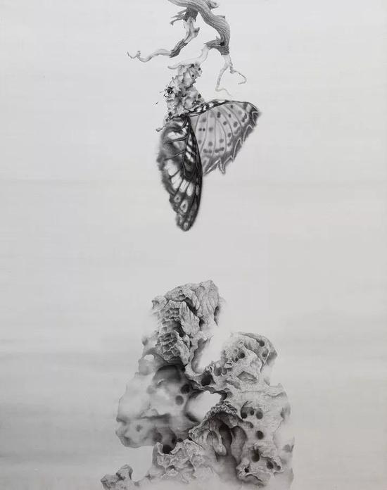 《出》 绢本水墨 2018年 178x136cm