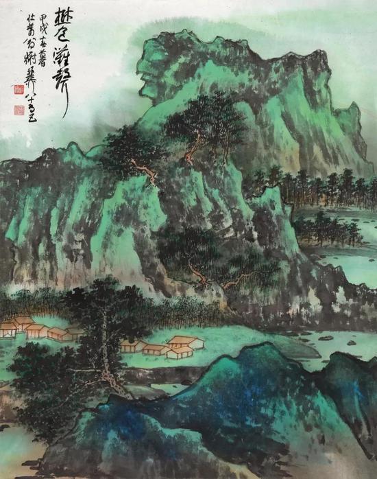 Lot578 谢稚柳(1910-1997) 树色滩声