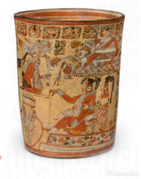 神话饮酒场景纹陶罐