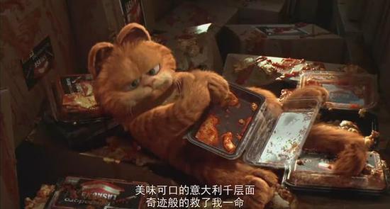 电影《加菲猫》剧照。图片来自网络
