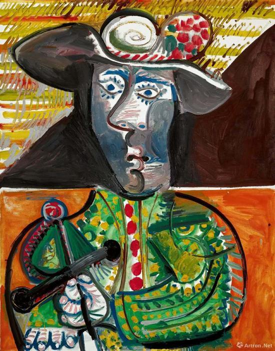 毕加索 《斗牛》146x114cm 布面油画 1970年作