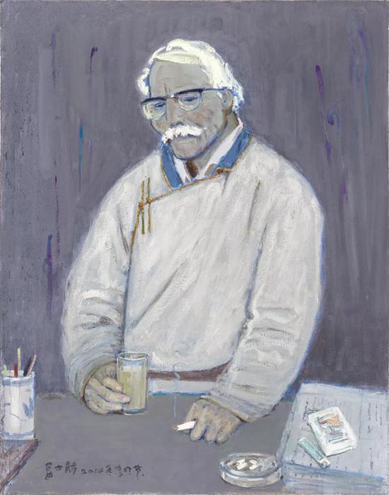 妥木斯《额尔德木腾》布面油画 110×140cm 2014年