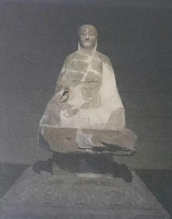 图9 老子真容像,唐,八世纪,西安碑林博物馆藏