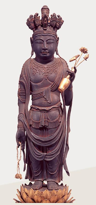 重要文化遗产 十一面观音菩萨立像 奈良时代(8世纪)大阪道明寺藏