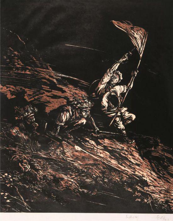 赵延年作品《红旗不倒》 2012 年在北京拍出 5.1 万元