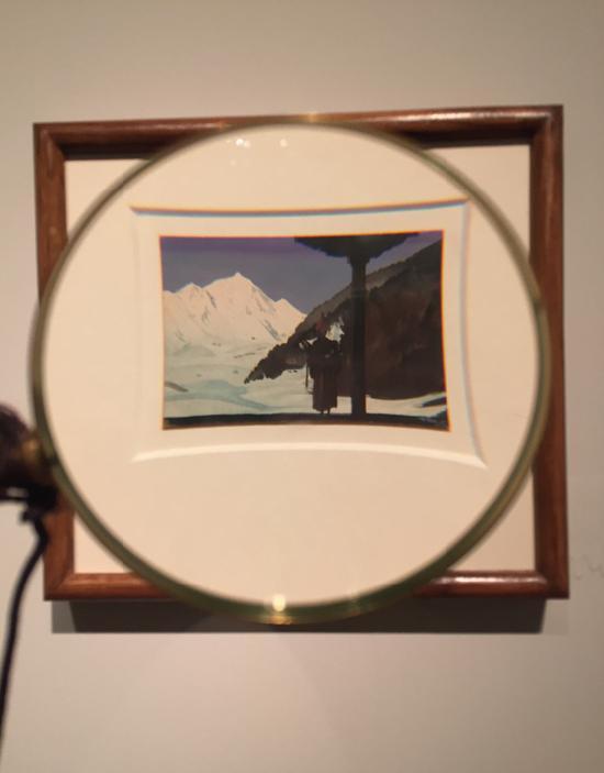 拜尔斯沃·森,《托钵僧》,纸上水彩、蛋彩 ,5.5×8.5cm,1953年, 印度国家现代艺术馆藏