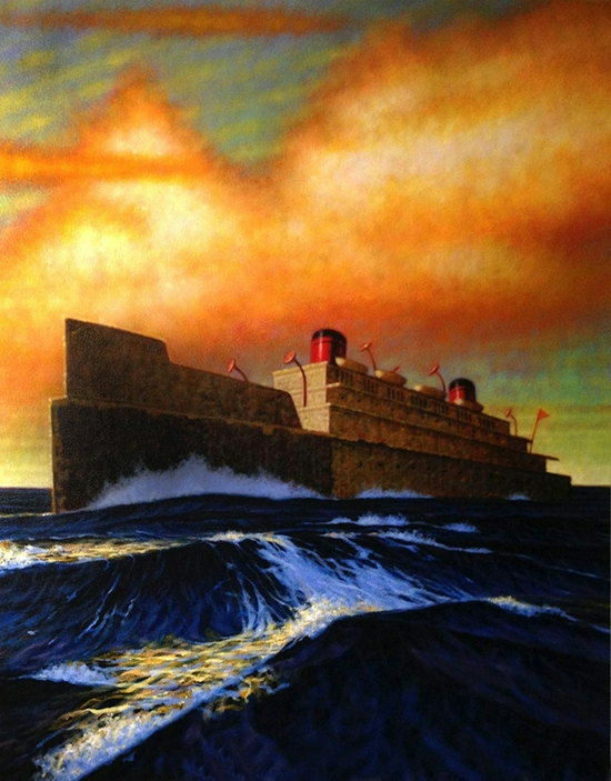Peter Drake Steamer, 2014 Acrylic on Canvas 52 x 42 inches
