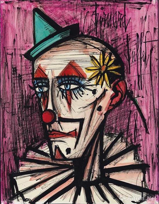 拍品编号131 贝尔纳·布菲 (1928-1999) 《戴雏菊的小丑》