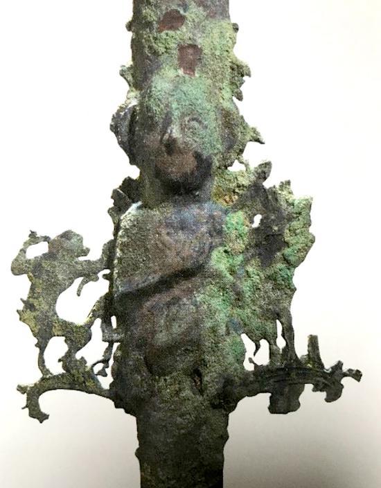 浙江博物馆展品,交叉手印式造像