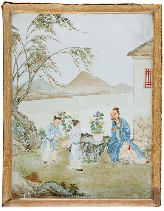 故宫六百年这些玻璃画是为了乾隆朝的蒙古包装修