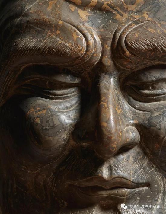 Lot 6北齐 天保十年(559年) 大理石雕思惟菩萨三尊像