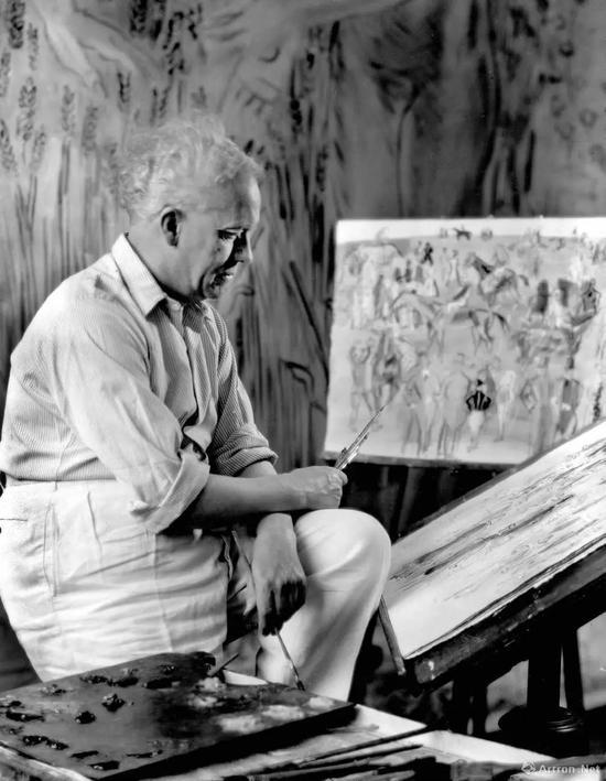 劳尔·杜菲在他的工作室 1937年 劳拉·阿尔滨·基洛摄