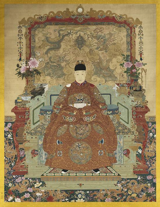《明熹宗坐像》台北故宫博物院藏