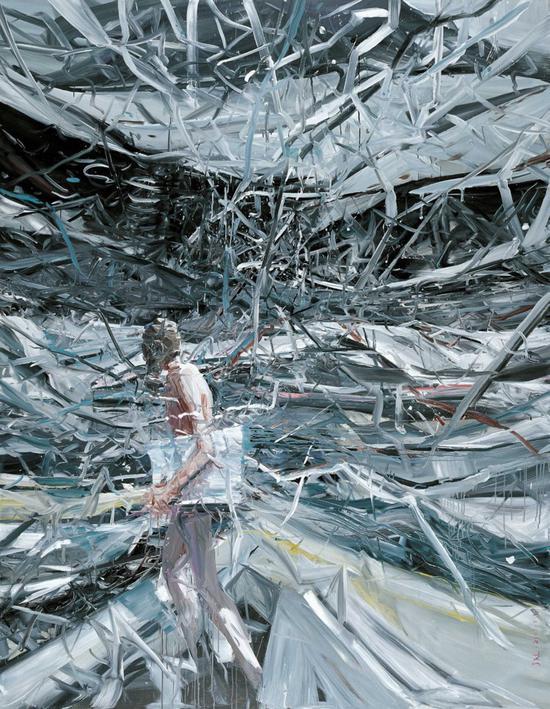 贾蔼力《疯景》油彩画布 267×200cm 2007年作
