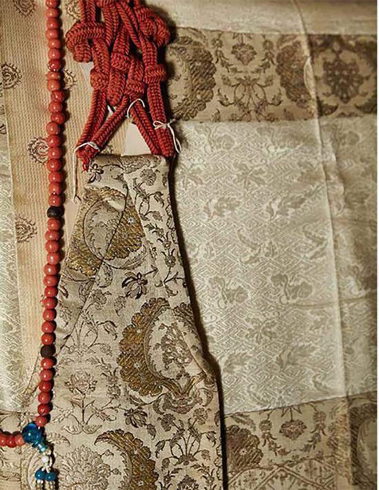 """""""蒙流九条袈裟""""(部分),江月宗玩所用,江户时代,17世纪"""