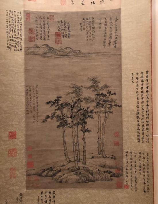 董其昌极其推崇并深受影响的元代倪瓒《六君子图》