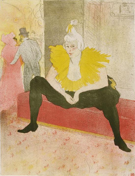 坐着的小丑:夏·玉·卡奥小姐 1896年