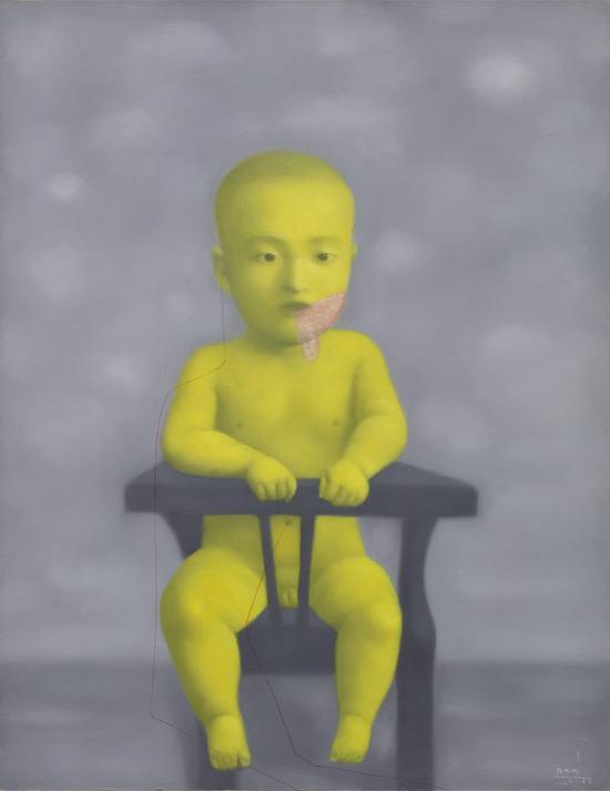 张晓刚《黄色婴儿》(1998年作)