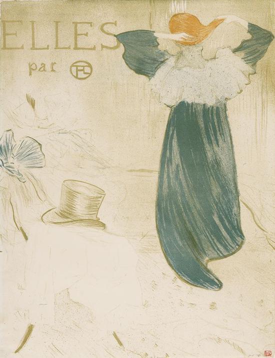 《她们》(卷首画) 1896年 彩色石版画