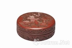 台北故宫藏明永乐剔红山水人物圆盒