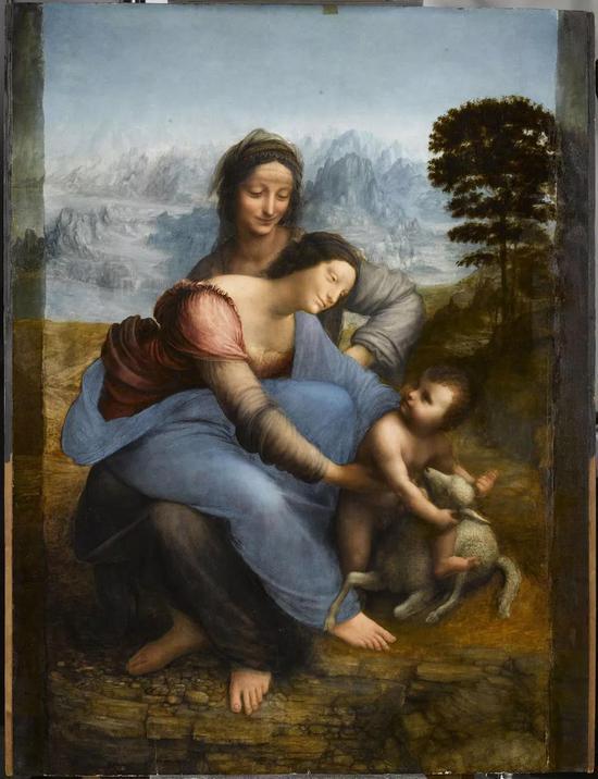 达芬奇《圣母子与圣安妮》1510图片:Courtesy musée du Louvre ? RMN/ RenéGabriel Ojéda