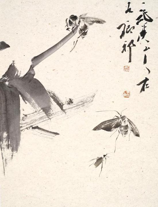 胡石 花鸟 46cm×35cm 纸本设色 2018年