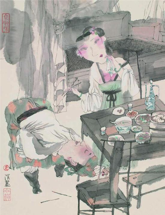 ▲《马小娟画金瓶梅百图》,上海人民美术出版社