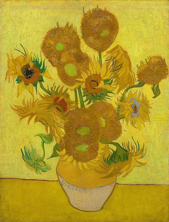 凡高《向日葵》放博物馆会变色