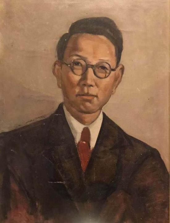 常书鸿,《韩乐然像》,布面油彩,35x25厘米,1947年,艺术家家属收藏