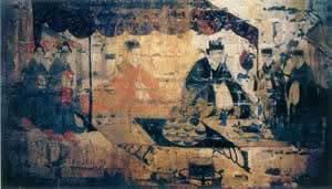 ▲ 洛阳朱村汉墓墓室壁画