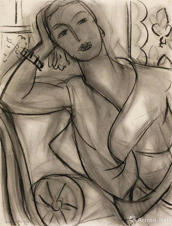 亨利·马蒂斯(Henri Matisse) 《哈钦森夫人像》