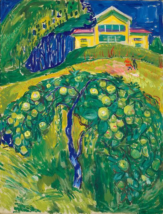 院子里的苹果树 1932-42年 油彩、油画