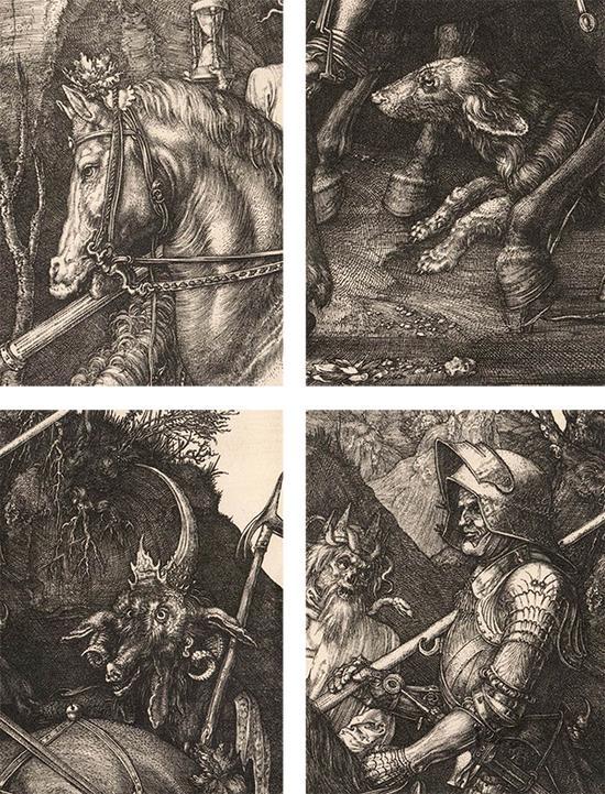 《骑士、死神与魔鬼》局部