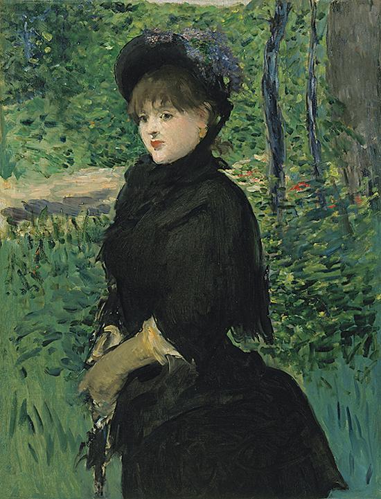 《漫步》,爱德华·马奈 ,约1880年
