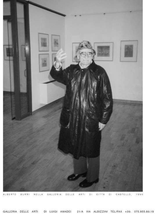 Burri 在Luigi画廊的个展 1990年
