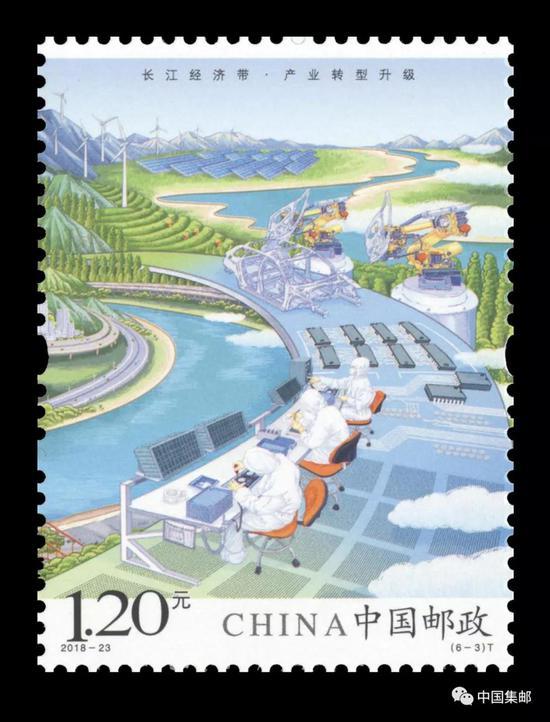 《长江经济带》特种邮票6-4
