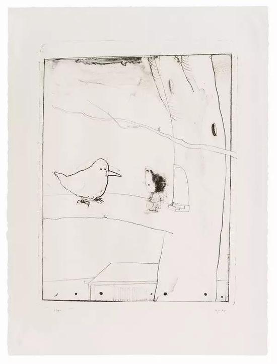 尹齐 惊蛰 石版画 图心: 54x43cm 图纸: 84x68cm 含框 2016 已售