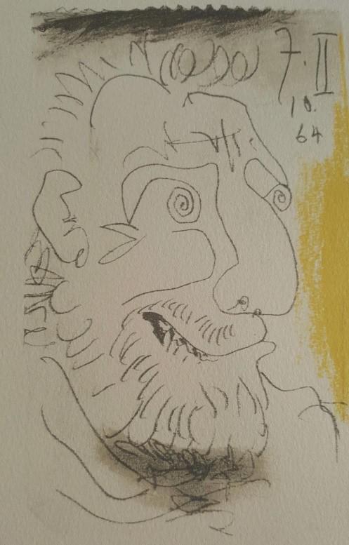 展览中的毕加索晚期画作