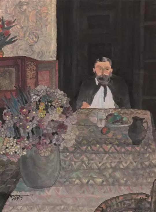 杨佴旻 安德鲁博士 1997年 46X34cm 纸本设色