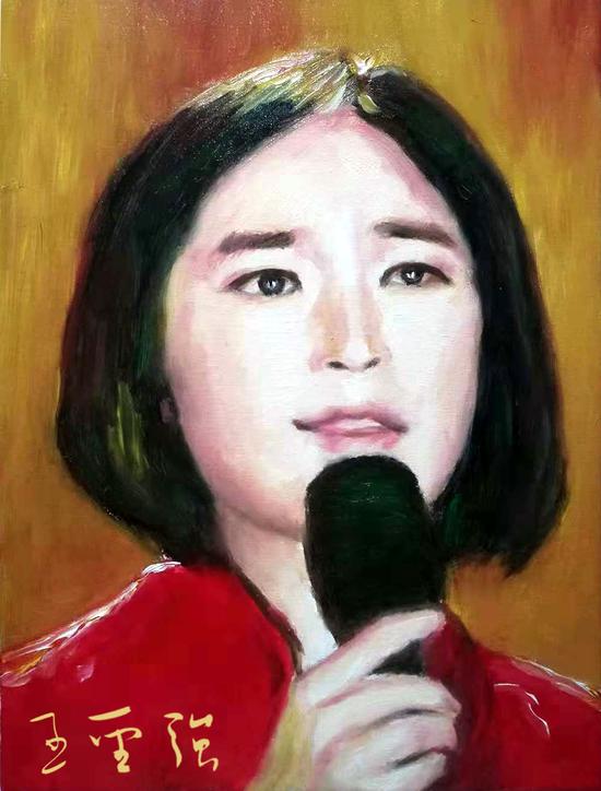 歌手苏允 30x40厘米 2018年