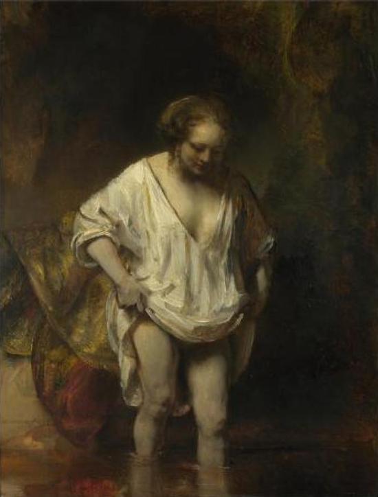 伦勃朗《溪浴》约1654年